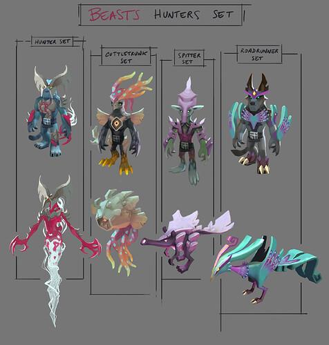 beasts_hunters_sets_ideas