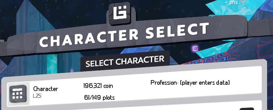 Character Select Menu Extra Info Suggestions Boundless