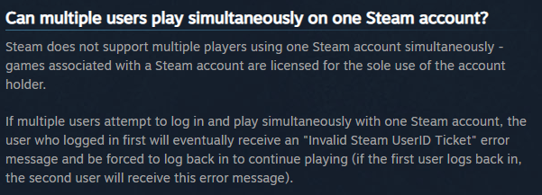 When my kids play a steam game on other pc boundless closes